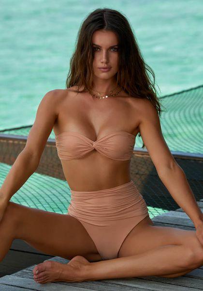 Melissa Odabash Lyon Bikini Tan