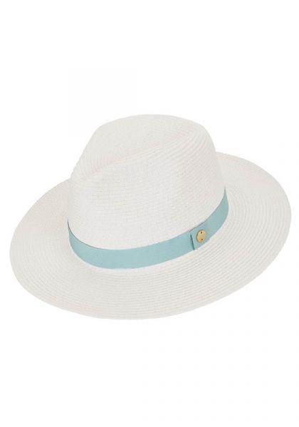Melissa Odabash Fedora Hat White/Mint