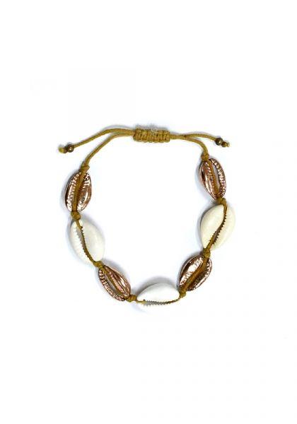 Pink Gold Shell Bracelet