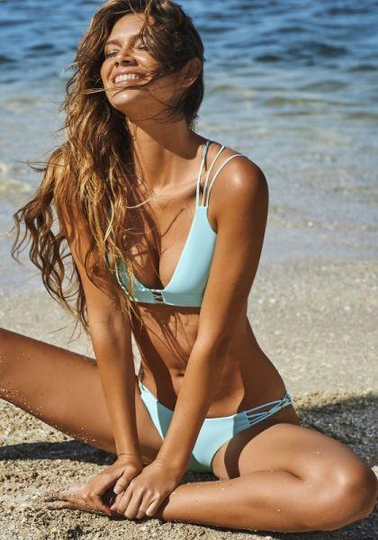 PilyQ Cabana Blue Cruz Bikini