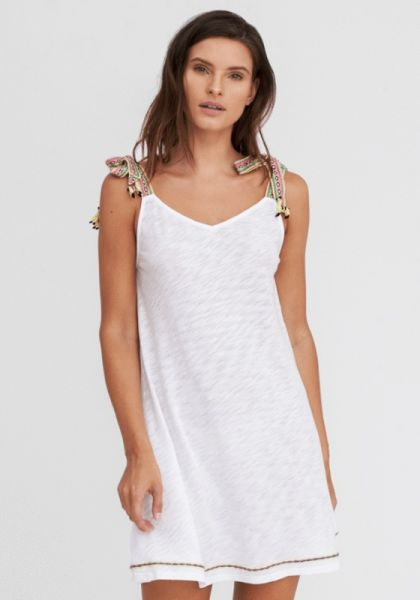 Pitusa Llama Tie DRess White