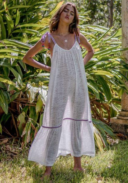 Pitusa Tie Up Dress White