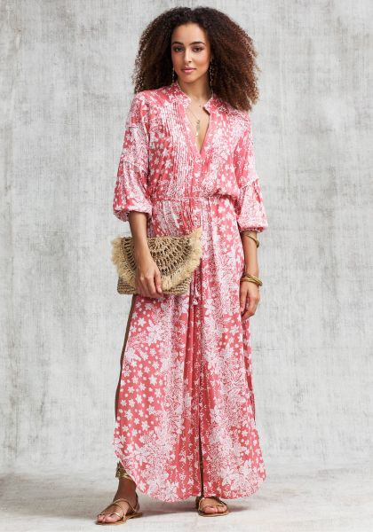 Poupette St Barth Long Ilona Tunic Dress Pink