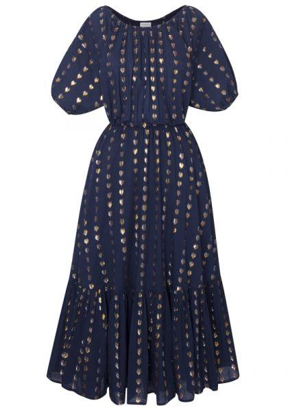Frida Dress Navy Lurex