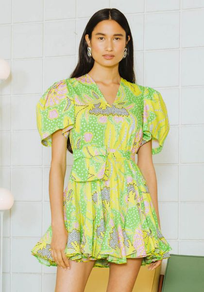 Rhode Resort Neon Botanical Dress