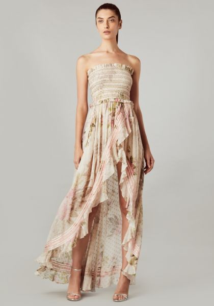 Rococo Sand Strapless Floral Maxi Dress
