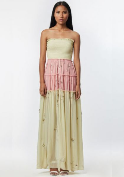 Rococo Sand Strapless Star Light Maxi Dress