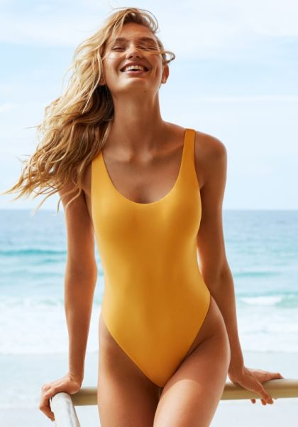 Seafolly Retro Tank Swimsuit Buttercup