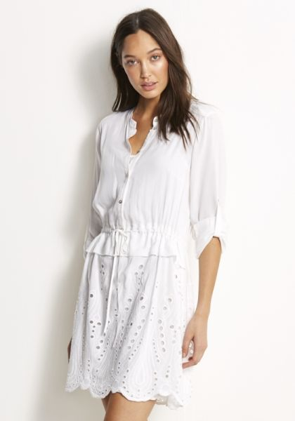 Seafolly Broderie Shirt Dress White
