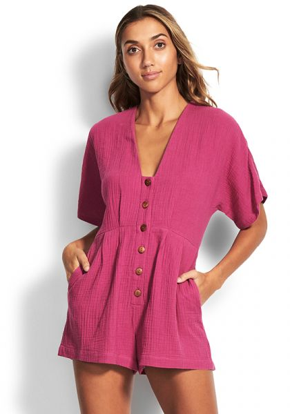 Seafolly Button Up Playsuit