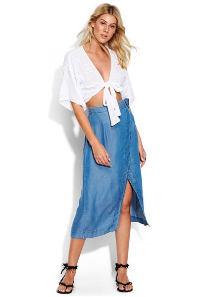 Seafolly Chambray Wrap Skirt
