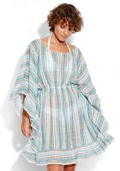 Seafolly Inka Ruffled Stripe Kaftan