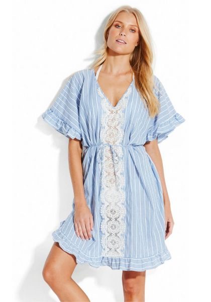 Seafolly Lace Trim Kaftan