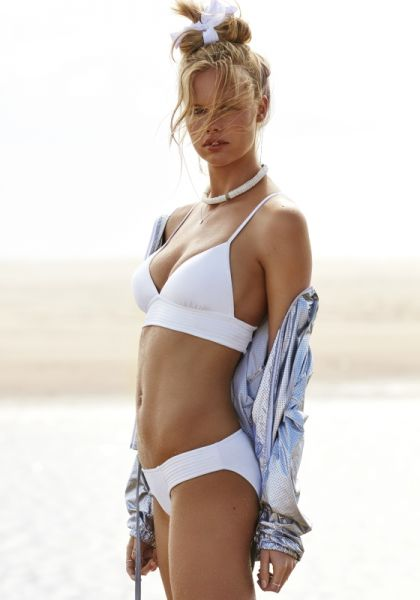 Seafolly Quilted Triangle Bikini White