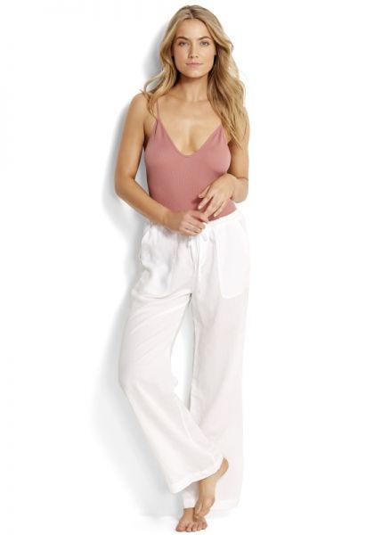 Seafolly White Beach Pants