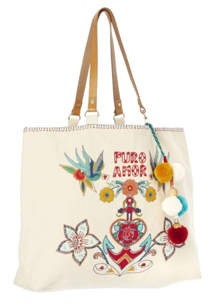 Star Mela Rosio Embroidered Tote