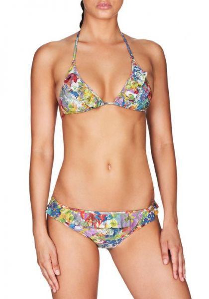 Stella McCartney Floral Print Ruffle Bikini