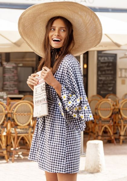 Alison Sundress Daisy Gingham Dress