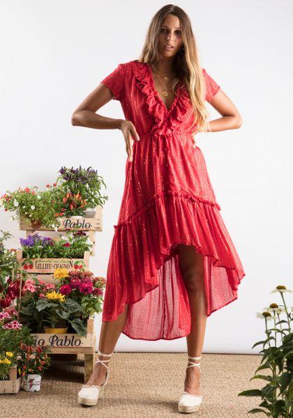 Romane Dress Red