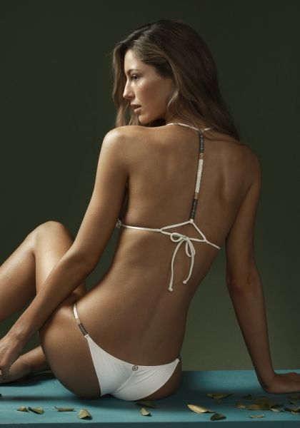 Vix Swimwear Off White Ella Triangle Bikini
