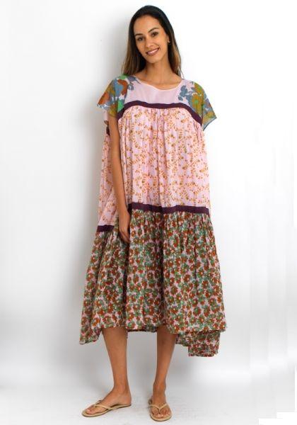 Yvonne S Wind Dress Rose