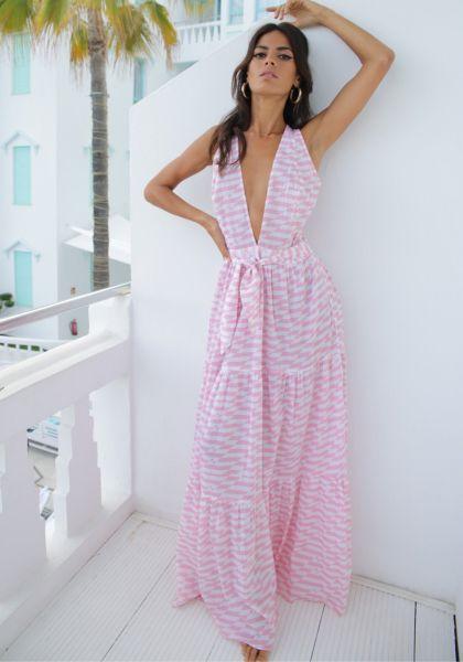 Alexandra Miro Raphaela Dress Pink Geo