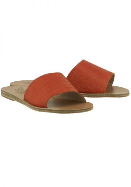 Taygete Slides Orange Croc