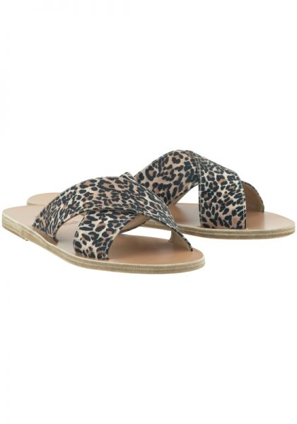 Ancient Greek Sandals Thais Leopard Sandals
