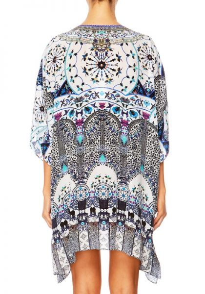 42b16d8af2 Camilla | In the Constellations Lace Up Kaftan | Beach Cafe UK