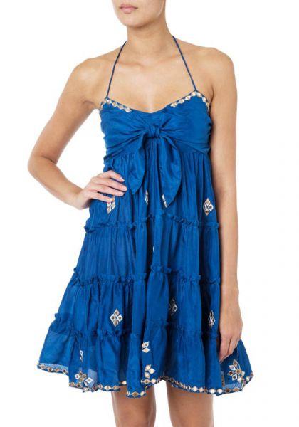 Juliet Dunn Silk Bow Tie Dress