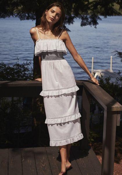 Kisuii Tal Smocked Tiered Dress