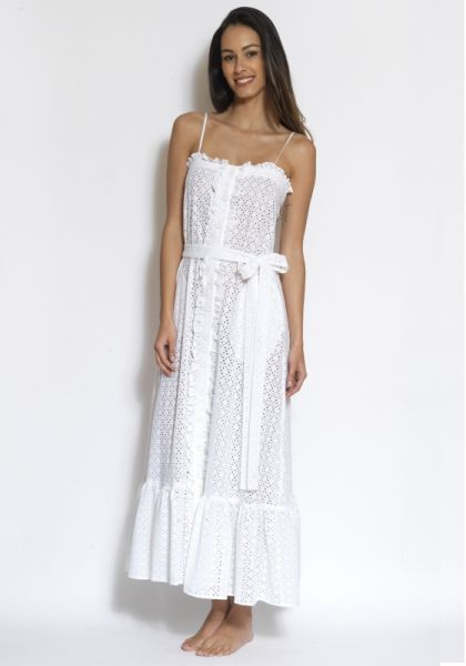 Lisa Marie Fernandez Button Down Ruffle Dress