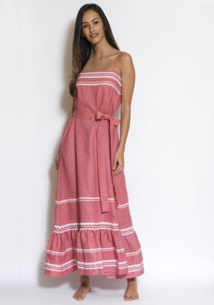 Lisa Marie Fernandez Pink Ric Rac Dress