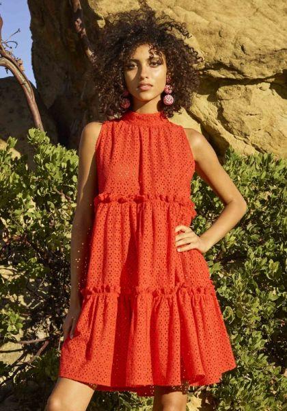 Lisa marie Fernandez Tomato Broderie Anglaise Dress