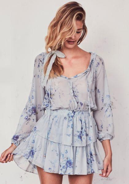 LoveShackFancy Popover Dress Celestia