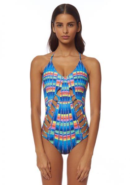 Mara Hoffman Flight Lattice Swimsuit