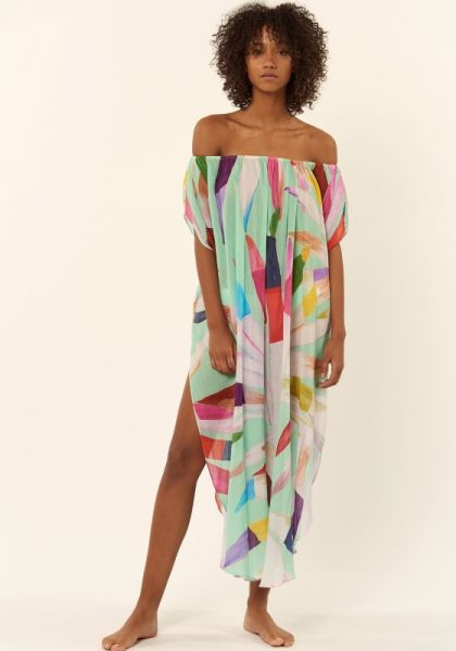 Mara Hoffman Marimba Off the Shoulder Kaftan