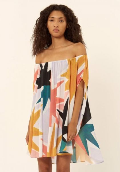 Mara Hoffman Superstar Off the Shoulder Kaftan