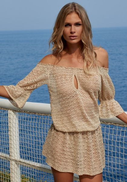 Melissa Odabash Flo Off Shoulder Crochet Dress