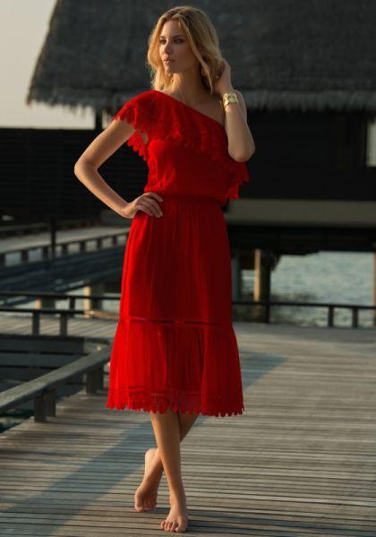 MELISSA ODABASH JO DRESS RED