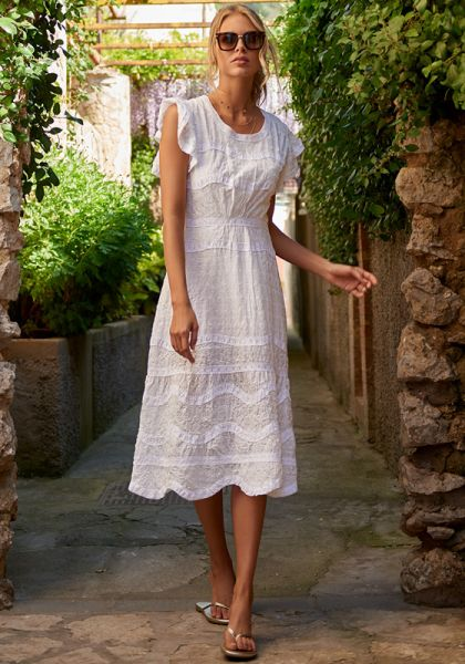 Melissa Odabash Louisa Dress White