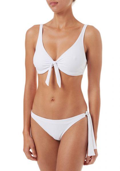 San Juan Bralette Bikini White Pique