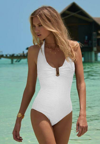 Melissa Odabash Tampa Swimsuit White