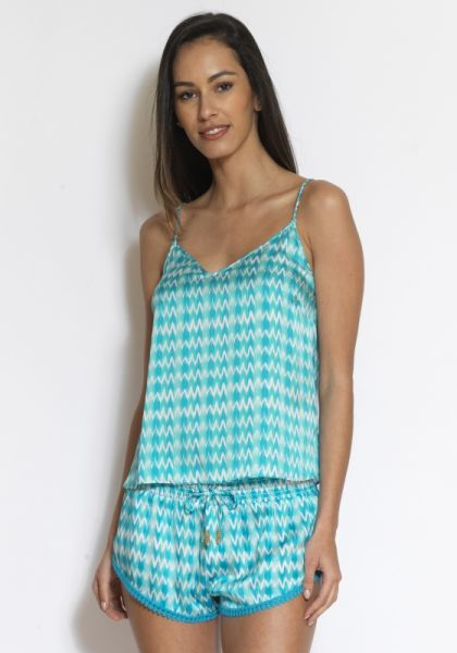Paloma Blue Capri Top Ocean