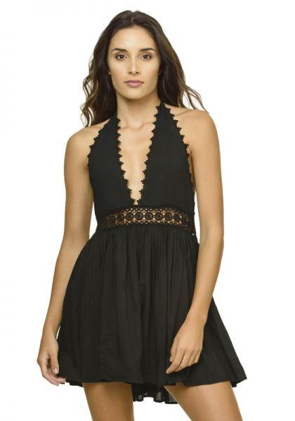 PilyQ Celeste Dress Black