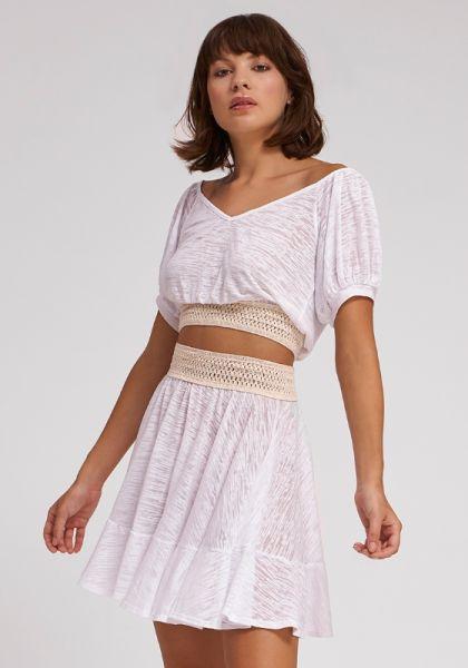 Pitusa Crochet Skirt