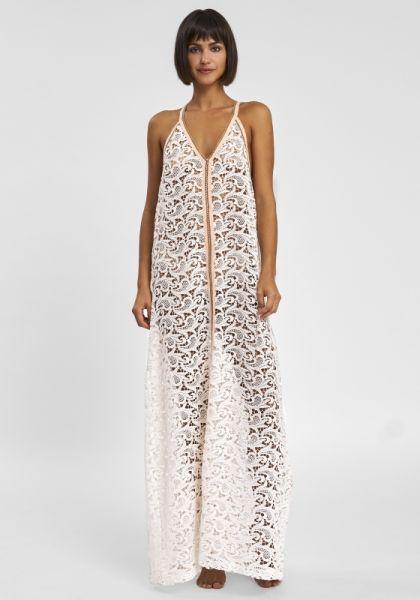 Pitusa Crochet Sundress White