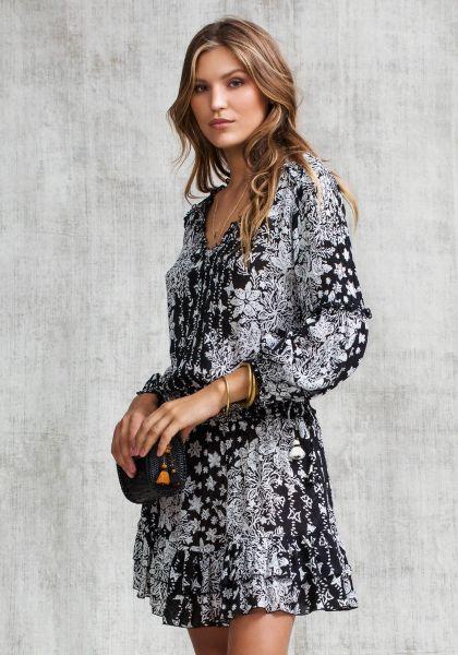 Poupette St Barth Mini Ilona Tunic Dress Black