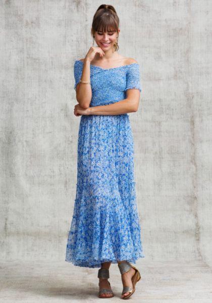 Poupette St Barth Soledad Dress Blue