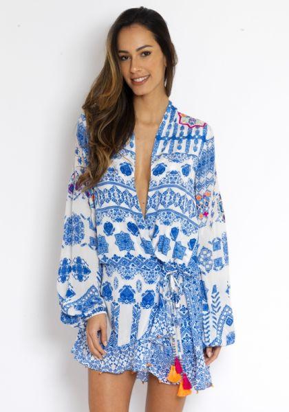 Rococo Sand Ionic Wrap Dress